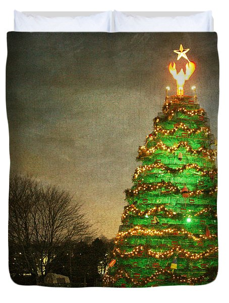 Rockland Lobster Trap Christmas Tree Duvet Cover