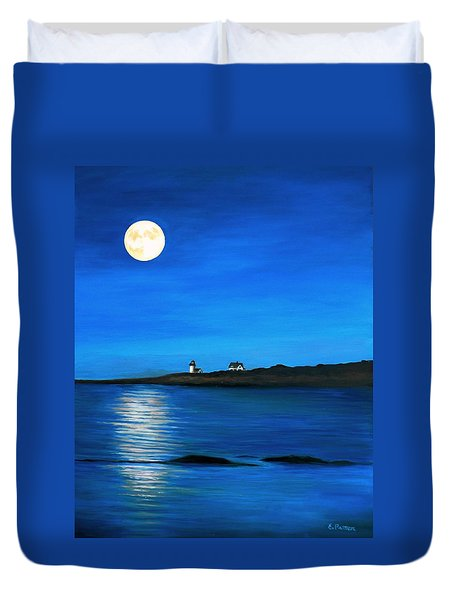 Rockport Harvest Moon Duvet Cover by Eileen Patten Oliver