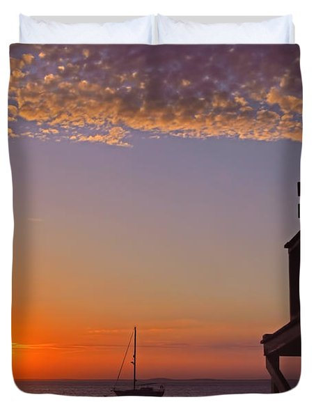 Rockport Sunset Duvet Cover by Joann Vitali