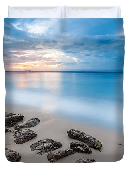 Rocks By The Sea Duvet Cover by Mihai Andritoiu