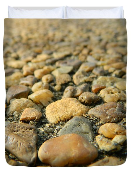 Rocks On My Path Duvet Cover by Andrea Anderegg