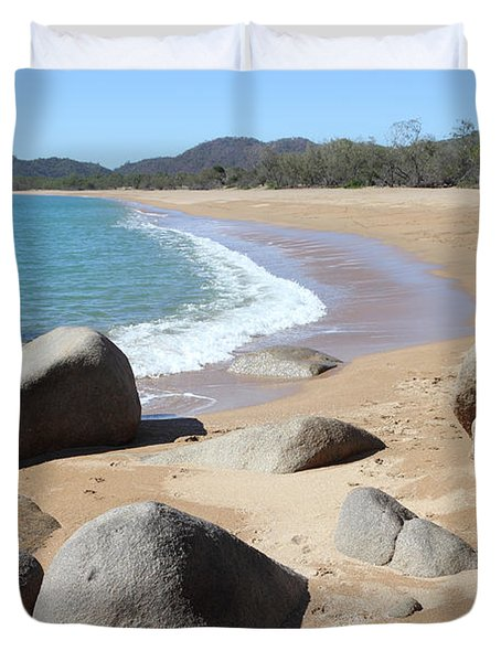 Rocks On The Beach Duvet Cover