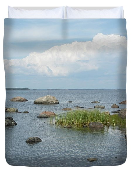 Rocks On The Baltic Sea Duvet Cover