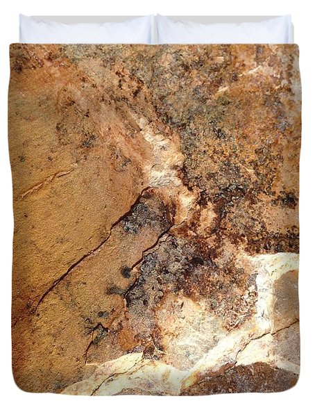 Duvet Cover featuring the photograph Rockscape 1 by Linda Bailey