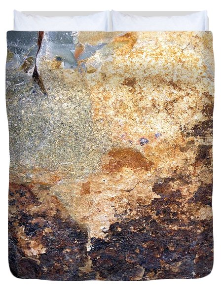 Duvet Cover featuring the photograph Rockscape 2 by Linda Bailey