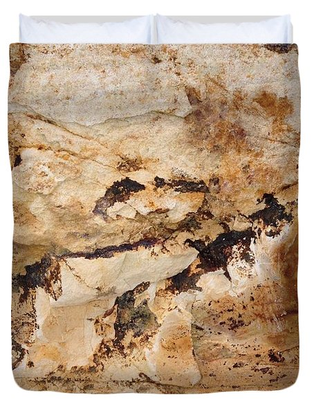 Duvet Cover featuring the photograph Rockscape 3 by Linda Bailey