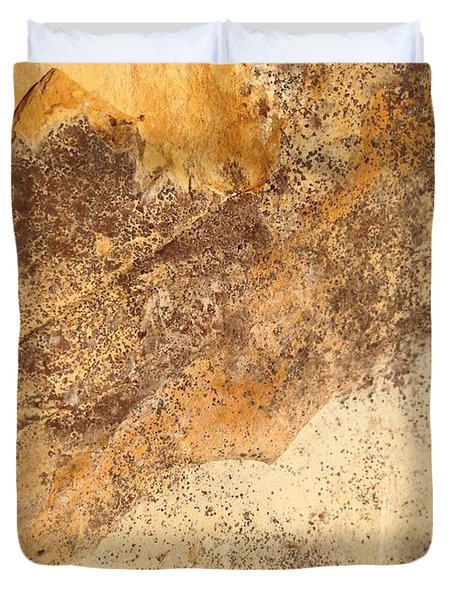 Duvet Cover featuring the photograph Rockscape 7 by Linda Bailey