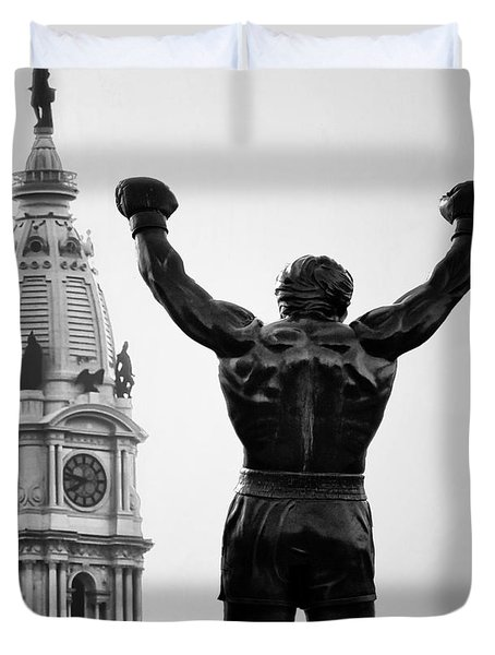 Rocky And Philadelphia Duvet Cover by Bill Cannon