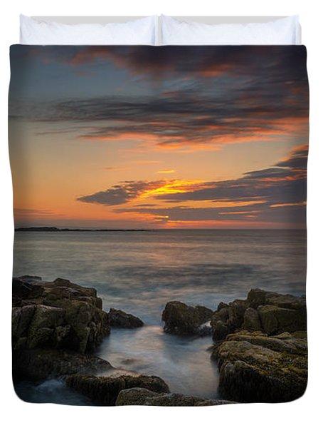 Rocky Coast Of Maine Wide Crop Duvet Cover