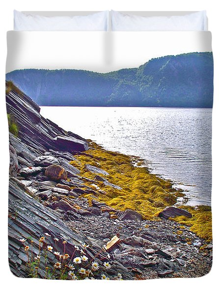 Rocky Edge At Norris Point On Bonne Bay In Gros Morne Np-nl Duvet Cover