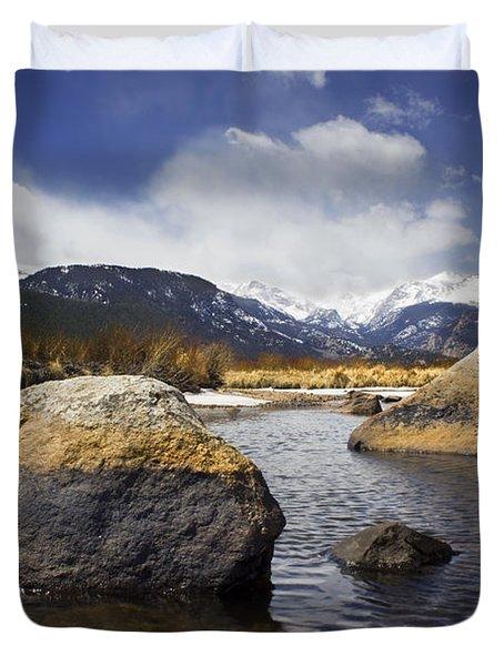 Rocky Mountain Creek Duvet Cover