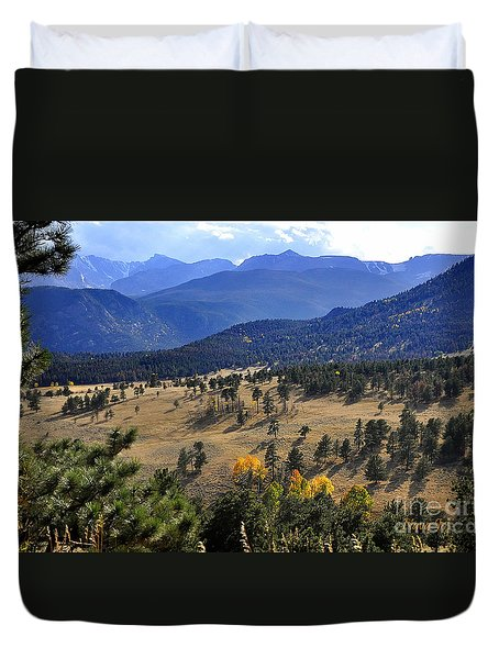 Duvet Cover featuring the photograph Rocky Mountain Evening by Nava Thompson