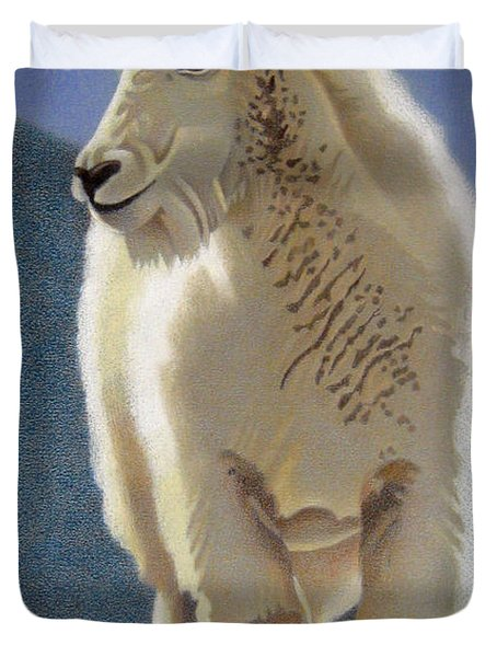 Rocky Mountain Goat Duvet Cover