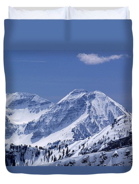 Rocky Mountain High Duvet Cover by Bill Gallagher