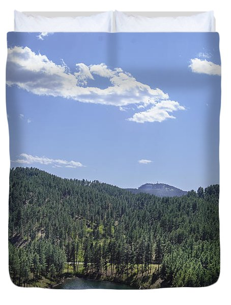 Rocky Mountain Lake Duvet Cover