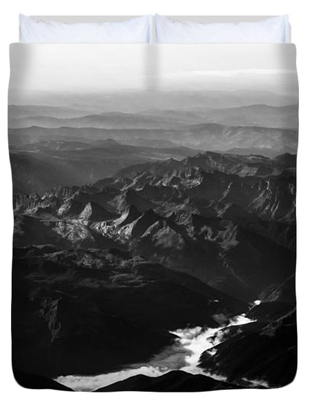 Rocky Mountain Morning Duvet Cover by John Daly