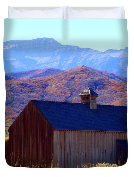 Duvet Cover featuring the photograph Rocky Mountain Retreat by Jackie Carpenter