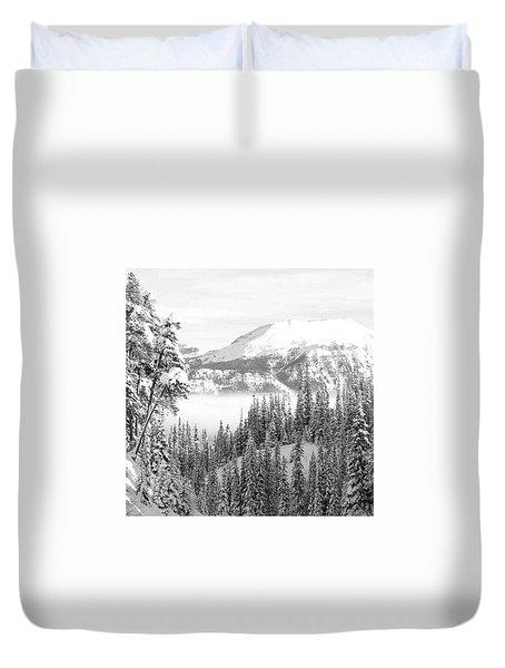 Rocky Mountain Vista Duvet Cover