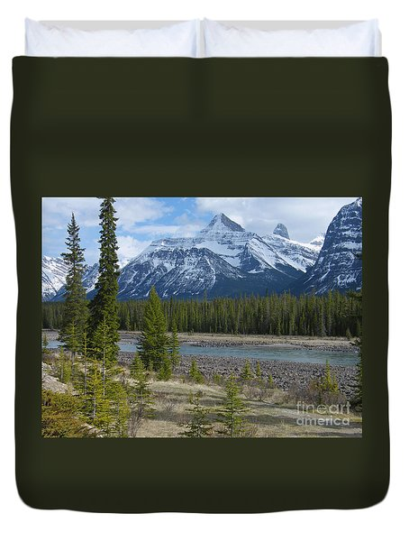 Rocky Mountains - Sunwapta River Duvet Cover