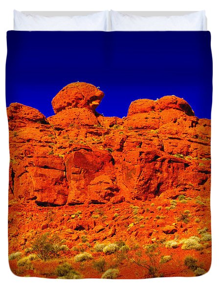 Rocky Outcrop Duvet Cover by Mark Blauhoefer