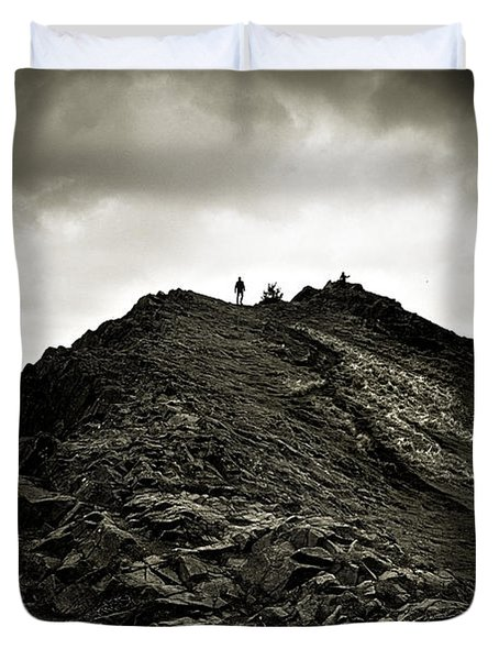 Rocky Pathway To Scotland Duvet Cover