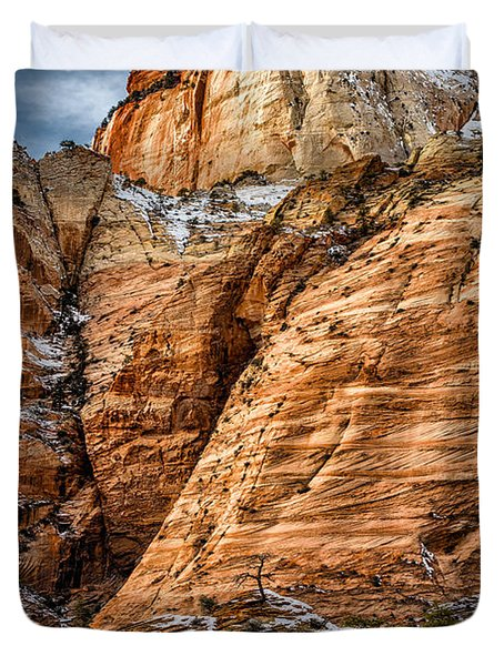 Rocky Peak Duvet Cover by Christopher Holmes