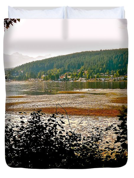 Rocky Point Port Moody Duvet Cover by Sher Nasser