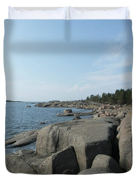 Rocky Seashore 2 In Hamina  Duvet Cover