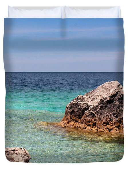 Rocky Shoals Of Tobermory Duvet Cover