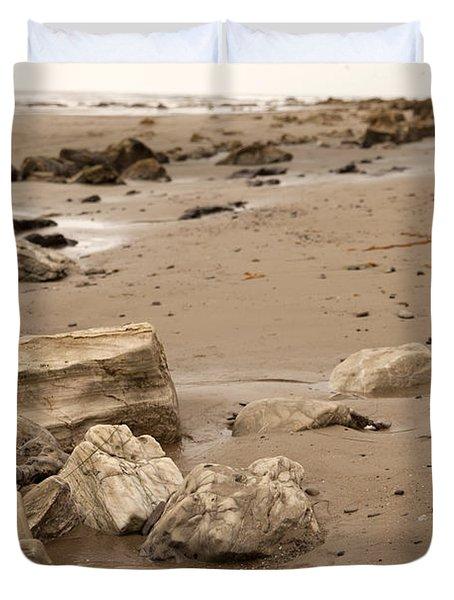 Rocky Shore Duvet Cover by Amanda Barcon