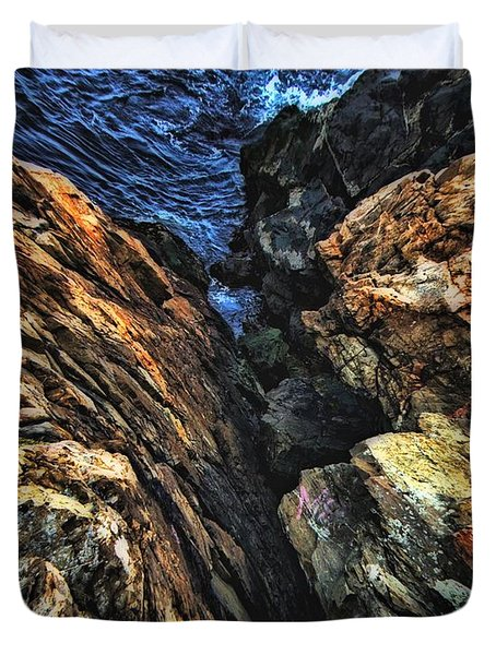 Rocky Shore Duvet Cover