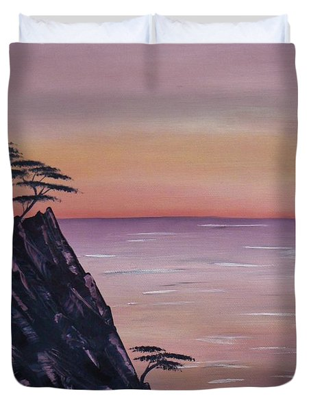 Rocky Sunset Duvet Cover by Barbara St Jean
