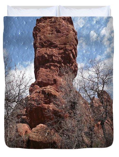 Rocky Totem Duvet Cover