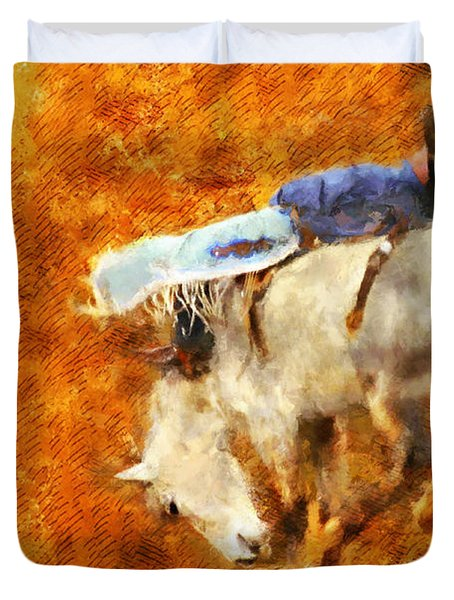 Eight-second Ride Duvet Cover by Greg Collins