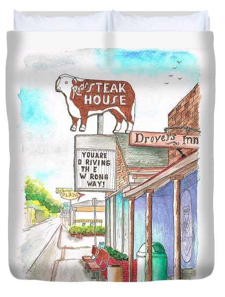 Rod's Steak House In Route 66 - Williams - Arizona Duvet Cover