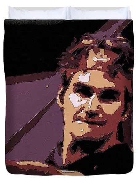 Roger Federer Poster Art Duvet Cover by Florian Rodarte