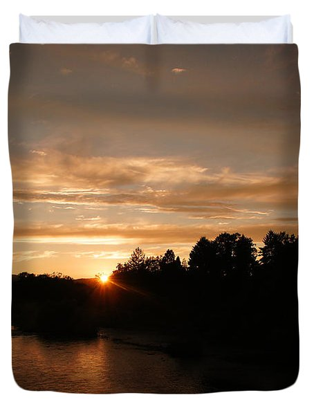 Rogue August Sunset Duvet Cover by Mick Anderson