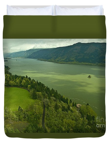 Duvet Cover featuring the photograph Roll On Columbia Roll On by Nick  Boren