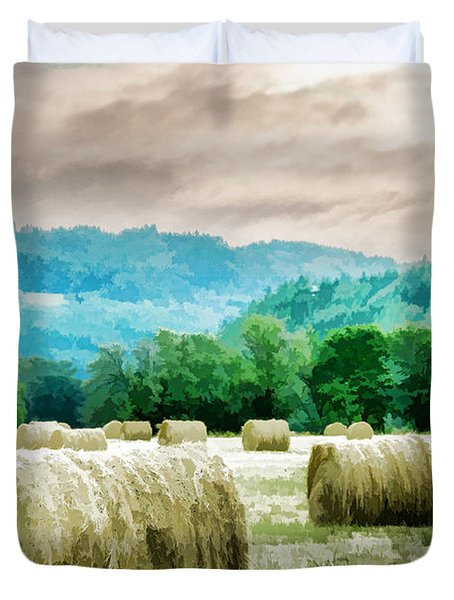 Rolled Bales Duvet Cover by Mick Anderson