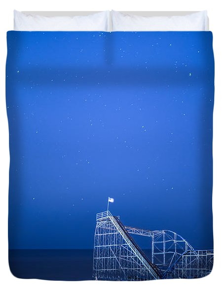 Roller Coaster Stars Duvet Cover by Michael Ver Sprill