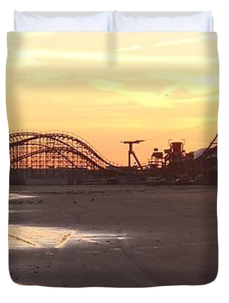 Roller Coaster Sunset Duvet Cover