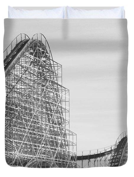 Roller Coaster Wildwood Duvet Cover by Eric  Schiabor