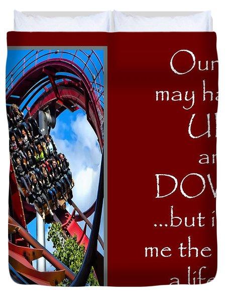Rollercoaster Valentine Duvet Cover