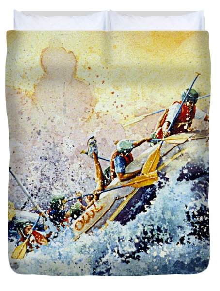 Rollin' Down The River Duvet Cover by Hanne Lore Koehler