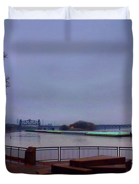 Duvet Cover featuring the photograph Rollin Onna River by Robert McCubbin
