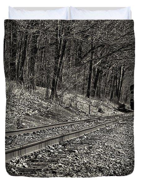 Rolling Down The Tracks Duvet Cover