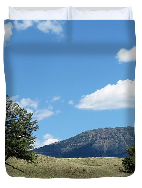Rolling Hills Duvet Cover by Laurel Powell