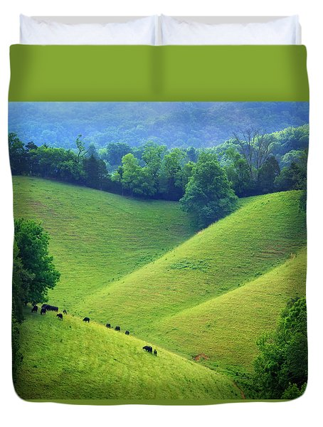Rolling Hills Of Tennessee Duvet Cover