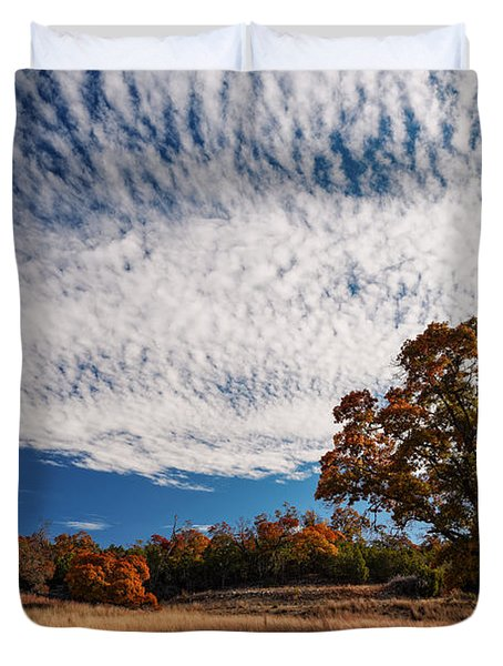 Rolling Hills Of The Texas Hill Country In The Fall - Fredericksburg Texas Duvet Cover