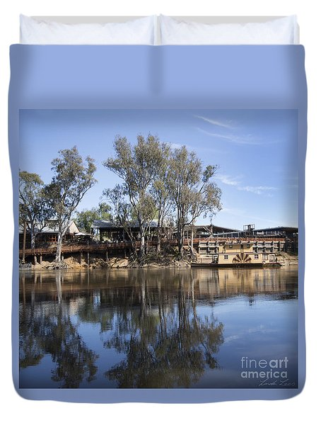 Rolling On The River Duvet Cover by Linda Lees